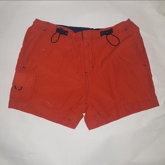 lei Pants - L.E.I. Athletic Shorts Deep Orange/Red